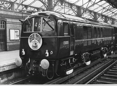 Class 71 Electric Locomotive number E5015 at Dover Western Docks having arrived with a special working conveying the President Tubman of Liberia and his wife.  Official BR Publicity photograph supplied with thanks by Mr G Holmes.<br /> 11.07.62
