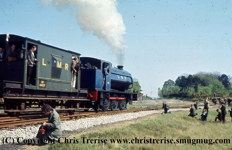 "Hunslet Austerity 0-6-0 Steam Locomotive number 196 is seen on the Longmoor Military Railway at Longmoor Downs. The locomotive would be named ""Errol Lonsdale"".<br />  30th April 1966"