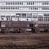 Guildford S&T Cable Wagon number DB479526 and Open Wagon number DB459762 are seen at London Waterloo.<br /> March 1971.