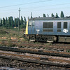 Class 71 Electric Locomotive number 71 001 is seen at an unidentified location.<br /> September 1976