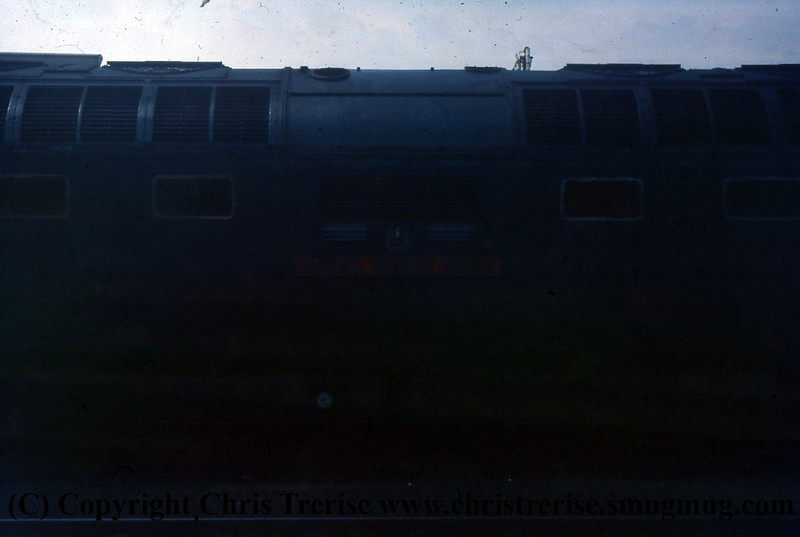Class 55 Deltic Diesel Locomotive number 55 022 is seen at Cleethorpes.<br /> 8th February 1976