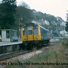 Class 121 Single Car DMU number W55025, set number P125, at Looe with the 1457 departure to Liskeard.<br /> 5th November 1977