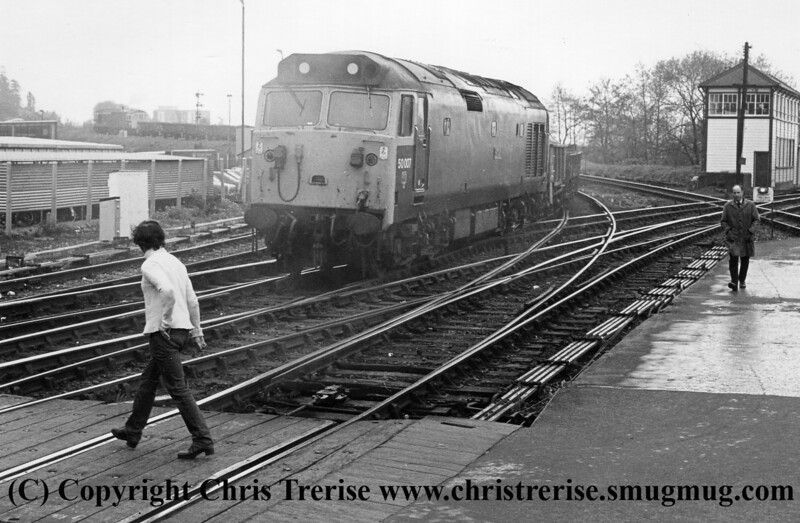 Class 50 banking at Exeter St Davids
