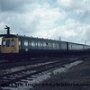 Class 118 3 Car DMU Set number B468 is seen departing Yeovil Junction.<br />  1979