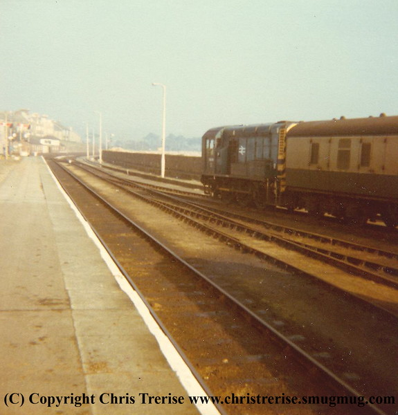 Class 08 Diesel Shunter number 08 644 at Penzance during 1981.