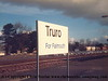 Truro station and goods yard.  Visble are cement wagons for Chacewater and fuel for Long Rock.<br /> 10th February 1987