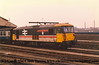 """Class 73/1 Electro-Diesel number 73 124 named """"London Chamber of Commerce"""" at Clapham Yard.<br /> 27th January 1988"""