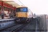"""Class 73/1 Electro-Diesel locomotive number 73 131 at Haslemere being prepared to be named """"County of Surrey"""".<br /> 4th March 1988"""