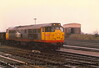 Class 31 Diesel Locomotive number 31 237 at Didcot Parkway.<br /> 23rd January 1988