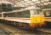 "Class 86 Electric Locomotive number 86 210 named ""City of Edinburgh"" at Liverpool Lime Street.<br /> 2nd April 1989"