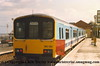 Class 150/1 2 Car DMU number 150 130 at Cleethorpes with the 1431 departure to Sheffield.<br /> 13th May 1989