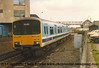 Class 150 2 Car DMU number 150 112 passes Wellowgate with the 1305 Cleethorpes to Birmingham New Street.<br /> 13th May 1989