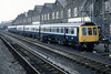 Class 117 3 Car DMU Set number L423 is seen at Swindon Works.<br /> 9th April 1981