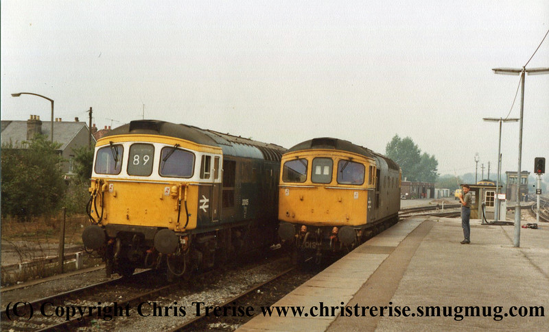 Class 33s at Salisbury