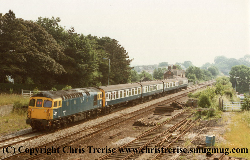Class 33 and Class 438 4-TC at Dorchester South