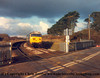 "Class 50 Diesel Locomotive number 50 040 named ""Leviathan"" passes Gwinear Road with the 1000 Penzance to London Paddington.<br /> 12th February 1987"