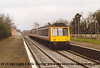 Class 117 3 Car DMU set number L428 departs North Camp with the 1020 Reading to Gatwick Airport.<br /> 14th March 1993