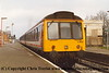 Class 117 3 Car DMU set number L400 at North Camp with the 0930 Gatwick Airport to Reading.<br /> 14th March 1993