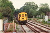 Class 205 3 Car Thumper DEMU number 205 009 departs Penshurst with the 1700 Redhill to Tonbridge.<br /> 23rd May 1994