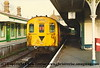 Class 205 3 Car Thumper DEMU Set number 205 025 at Eridge.<br /> 28th April 1994