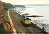 Class 47 Diesel Locomotive passes Dawlish.  I failed to record the number or date.<br /> 1995