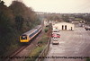 Class 117 2 Car DMU set number L723 departs Penryn with the 1505 Truro to Falmouth.<br /> 4th January 1995