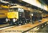 "Class 47 Diesel Locomotive number 47 799 named ""Prince Henry"" at Crewe Diesel Depot.<br /> 1996"