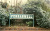Perranwell Station Sign.<br /> 7th January 1998
