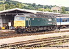 "Class 47 Diesel Locomotive number 47 846 named ""Thor"" stabled at Exeter St Davids.<br /> August 1998"