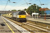Class 58 Diesel Locomotive number 58 029 passes Harlington with 7V64 0935 Stud Farm - Acton Yard.<br /> 7th August 1998
