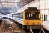 Class 117 3 Car DMU Set number 117 308 is seen at Edinburgh.<br /> 19th April 1996