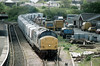 Class 37 Diesel Locomotive number 37 695 is seen at Par.<br /> 24th May 1996