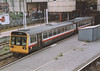 Class 142 2 Car Pacer DMU Set number 142 002 at Manchester Victoria.<br /> 15th July 1998