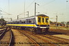 Class 319/4 4 Car EMU Set number 319 424 at Bedford Carriage Sidings.<br /> October 2001