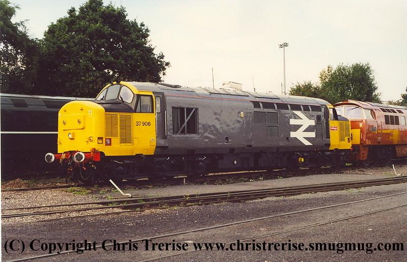 Class 37 Diesel Locomotive number 37 906 at Kidderminster.<br /> 14th September 2012