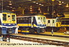 Class 319/3 4 Car EMU Set number 319 365 with Class 319/4 number 319 422 at Selhurst Depot.  Class 207 Thumper DEMU Set number 207 203 is also visible.<br /> 5th October 2001