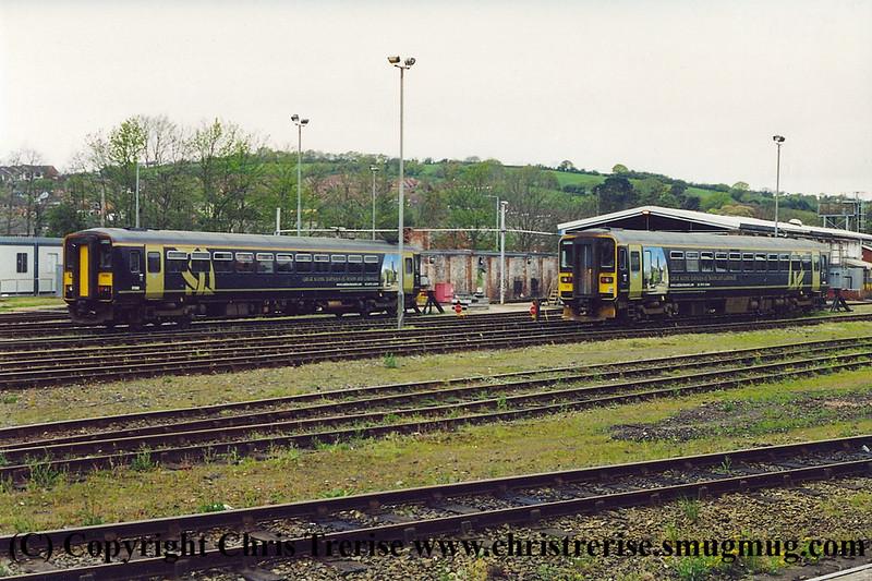 Class 153s at Exeter St Davids