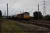 Class 60 Diesel Locomotive number 60 010 passes Nether Poppleton with trainload of tankers.<br /> 16th September 2009