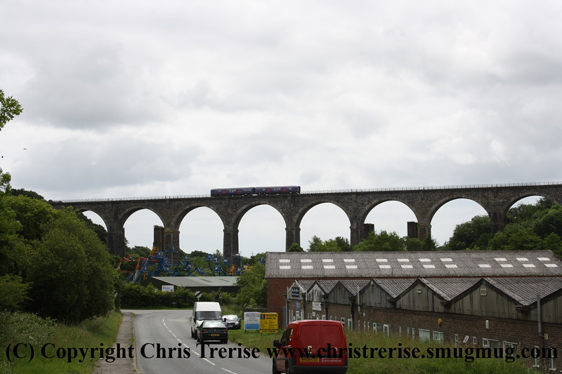 Class 150 2 Car Sprinter DMU number 150 2xx crosses Moorswater Viaduct with the 1050 Penzance to Plymouth.<br /> 18th June 2009