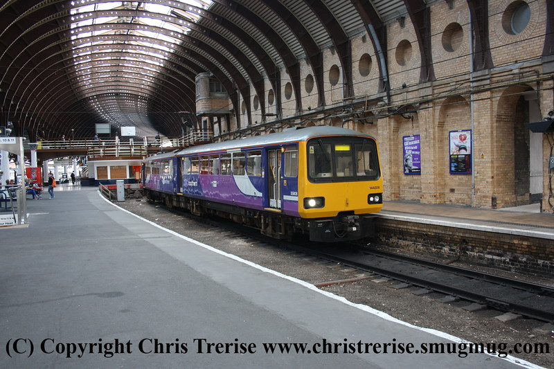 Class 144 2 Car Pacer DMU number 144 006 at York.<br /> 15th September 2009
