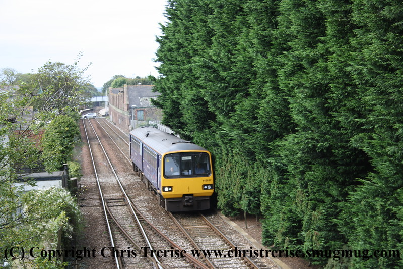 Class 143 2 Car Pacer DMU number 143 612 passes Roskear Junction with 2A63 1145 Penzance to Newton Abbot.<br /> 2nd October 2009