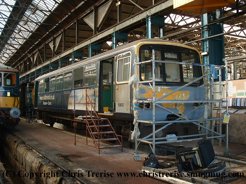 Class 143 2 Car Pacer DMU number 143 611 undergoing work at Eastleigh Works.<br /> 23rd May 2009