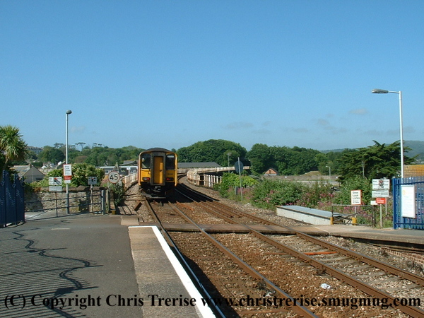 Class 150 2 Car DMU number 150 249 departs Hayle with the 0653 Exeter St Davids to Penzance.<br /> 10th June 2008
