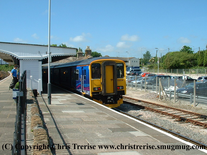 Class 150 2 Car DMU number 150 234 at St Erth with the 1141 St Erth to St Ives.<br /> 10th June 2008