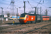 Class 43 HST Power Car number 43 184 on the rear leaving Doncaster on a Virgin Cross Country.<br /> 21st April 2001