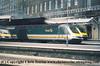 Class 43 HST Power Car number 43 140 departs London Paddington.<br /> 9th June 2001