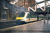 Class 43 HST Power Car number 43 142 departs London Paddington.<br /> 9th June 2001