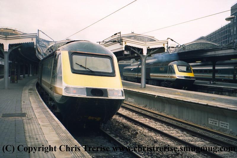 Class 43 HST Power Cars at London Paddington.<br /> 9th June 2001