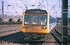 Class 142 2 Car Pacer DMU Set number 142 079 approaches Doncaster with a Sheffield service.<br /> 21st April 2001