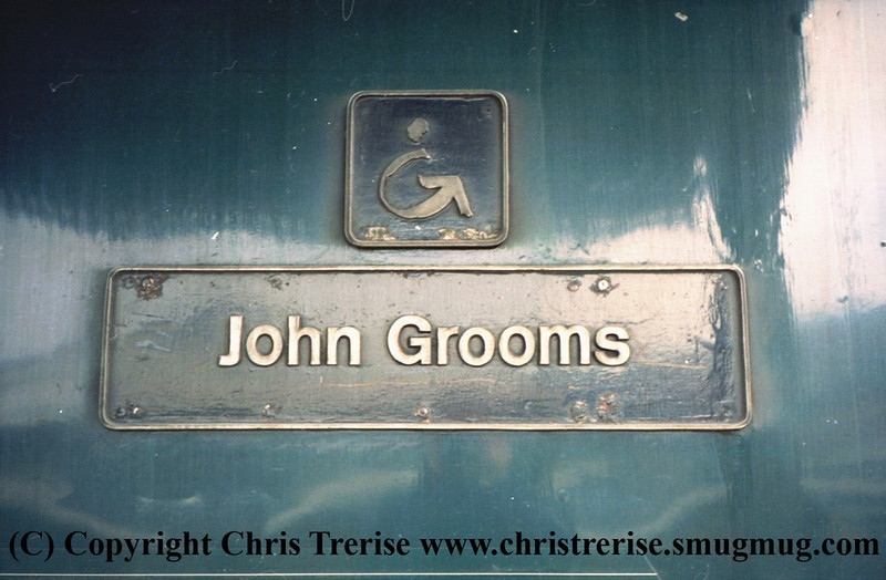 "Class 43 HST Power Car number 43 020 named ""John Grooms"" at London Paddington.<br /> 9th June 2001"
